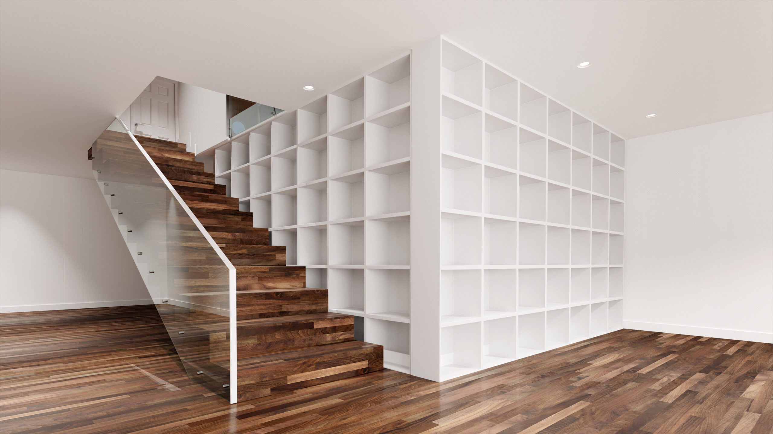 L Shaped Fitted Bookcase C Made